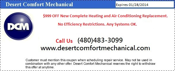 $999 OFF New Heating and Air Conditioning System Replacement.