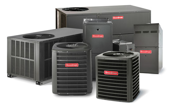 New Goodman Air Conditioners, Heaters and Packaged Units.