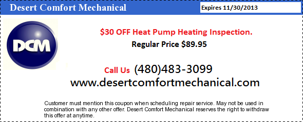 $30 Off Heat Pump Heating Inspection Coupon