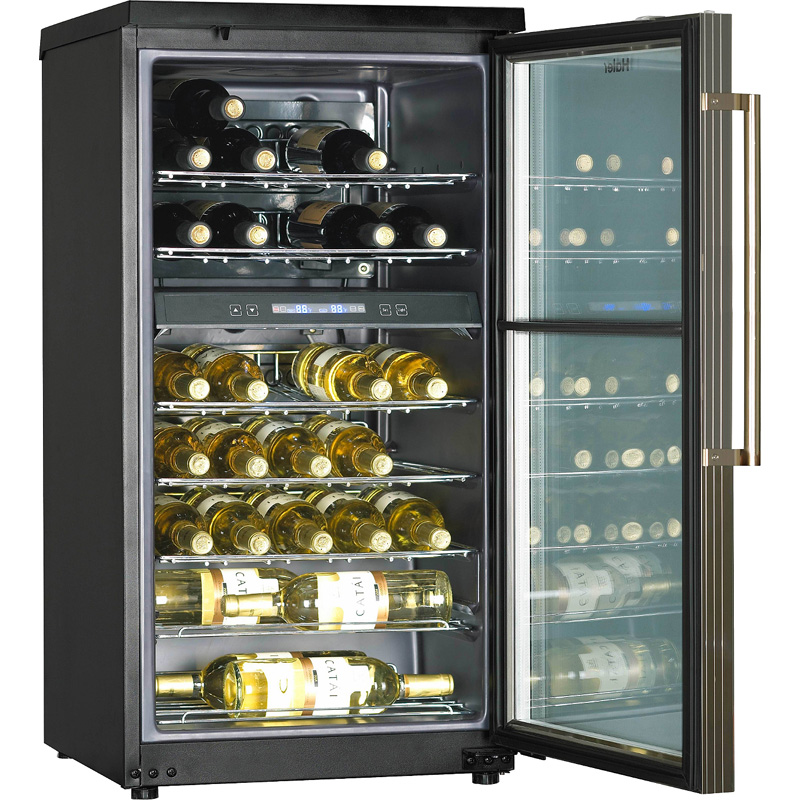Small refrigerator type wine chiller