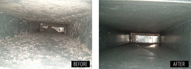 duct cleaning before and after results