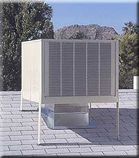 swamp cooler on roof installed by Desert Comfort Mechanical